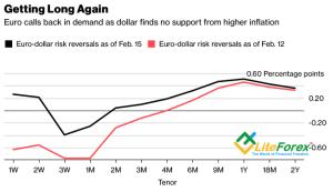 Динамика рисков разворота евро