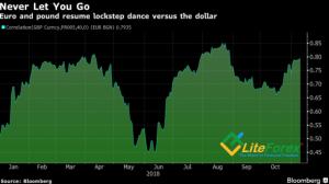 Динамика корреляции евро и фунта